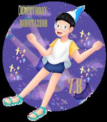 Happy Birthday Nobita by Pollito-Carmy