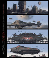 Worldview Art Book - Military Concepts Collection by JamesLedgerConcepts