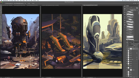 Works in Progress - Worldview Sci-Fi Art Book 2018 by JamesLedgerConcepts