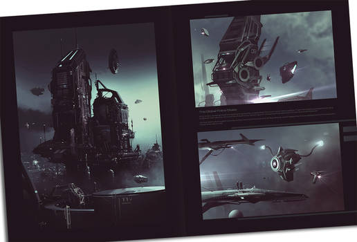 Police State - Worldview Art Book spread preview by JamesLedgerConcepts