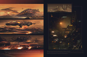Worldview - Mars two-page spread preview by JamesLedgerConcepts
