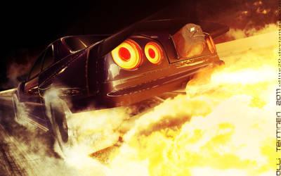 Skyline R34 Flames 'n Smoke by ollite20