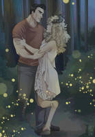 Low cost commission - Lovers into the night by multieleonora96
