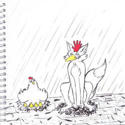 Inktober 2018 - #5 Chicken by Solaneum