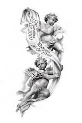 Angels tattoo design by ca5per