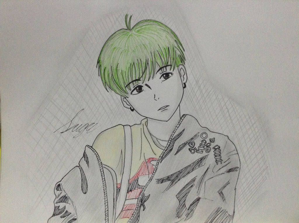 Bts Suga Drawing By Ayanohime On Deviantart