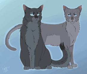 Mistyfoot and Stonefur by Faunafay