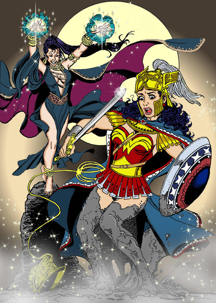 Wonder Woman Vs Circe by markdominic