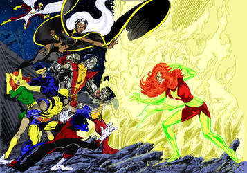 Dark Phoenix vs the Xmen by markdominic