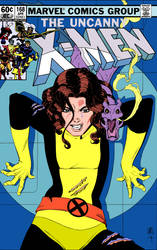 Kitty Pryde and Lockheed X-men Cover by Paul Smith by markdominic