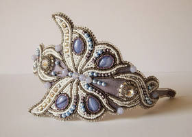 Bead embroidery headband 1 by Priscillascreations