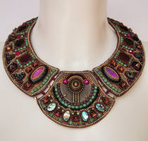 Bead embroidery necklace 1 by Priscillascreations