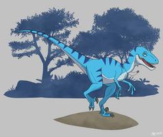 The Naked Utahraptor by MightyRaptor