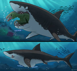Commission: Part 2: Prehistoric Jaws and Maws by MightyRaptor