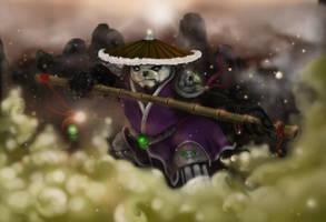 Pandaren Monk in the Mist by slamko42