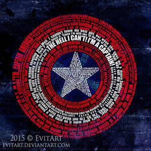 Captain America shield by evitart