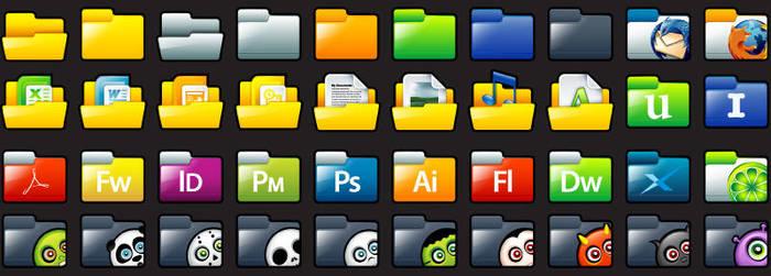 Sleek XP: Folders Full Preview by deleket