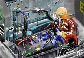 Birth of Metal Sonic by Diamond-ME