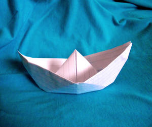 paper boat by FontKathleen
