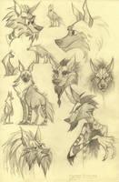 Hyaena brunnea by TheTundraGhost