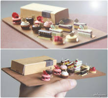 A buffet of miniature cakes. by Aiclay