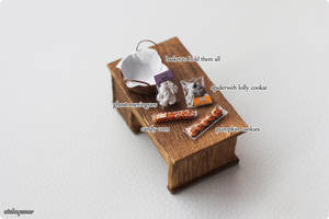 Miniature Basket of Halloween Treats by Aiclay