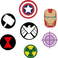 Marvel Avengers Symbols by Captain-Connor