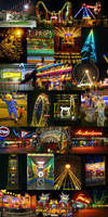 Amusement Parks On Fire by t-drom
