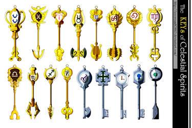 Keys of the Celestial Spirits , Fairy Tail by icecream80810