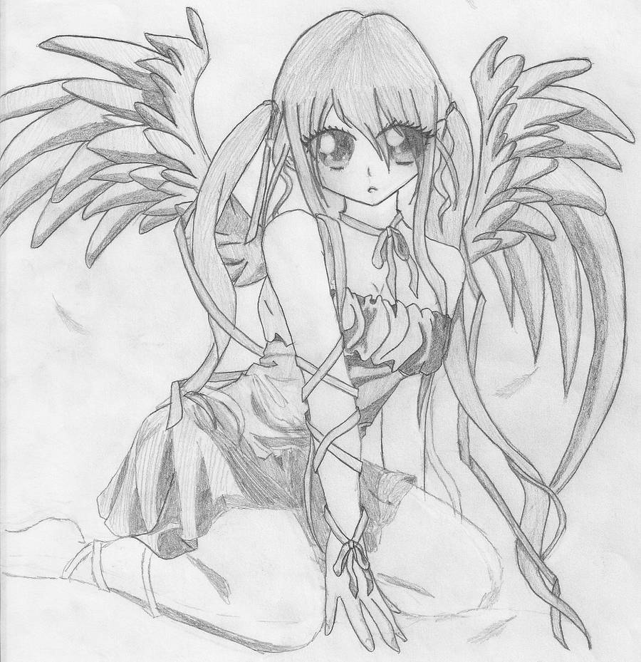 Angel pencil sketch by dragon 0