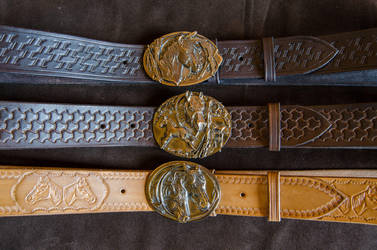 Leather belts by CreepyRiver