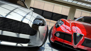 Alfa Romeo 8C and Aston Martin Vantage by Kadamx