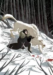 Jon Snow and Ghost by Douglasbot