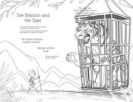 Brahmin and the Tiger spread 01 pencils by Douglasbot