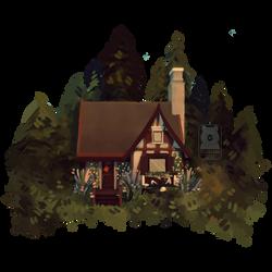 [I en Skov] Mini Nisse house by Qursidae