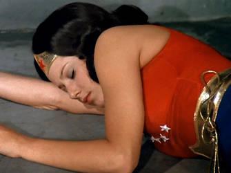 Wonder Girl Nap Time by saturnsam