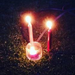 Backyard Candle Magic by BrennaxAdaira13