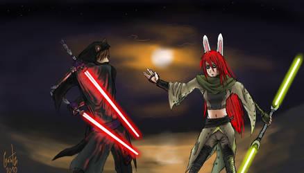 Jedi Showdown by gantz-pl