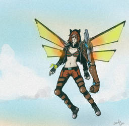 Flying Cat by gantz-pl
