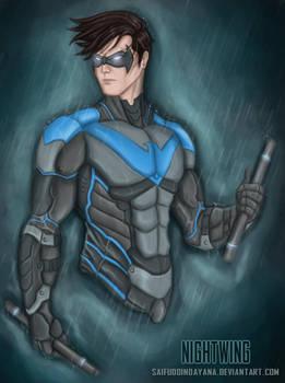 Nightwing-The Night Vigilante by SaifuddinDayana
