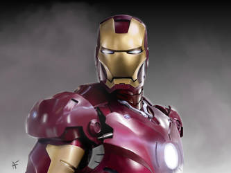 Iron man (Digitally painted) by psychoticorangejuice