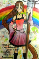 Painting with the Rainbow by MeToo-TheNight