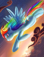 Zooming Rainbow Dash by SemajZ