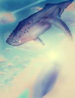 Whale in the sky. by AriNekotaku