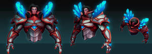 Taric the gem knight WIP by Fch3ck