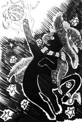 Witch cat by MaryTonomura