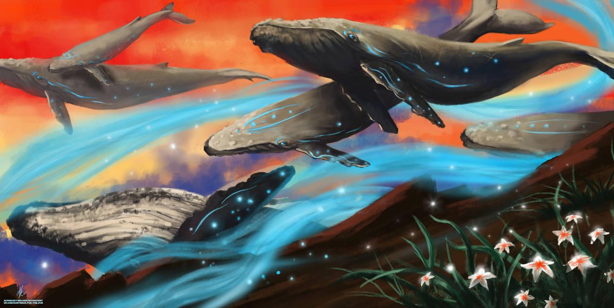 Whales by AlyonaSkywalker
