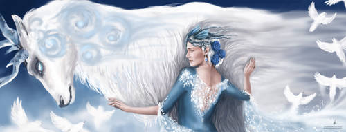 Ice Queen and the Guardian by AlyonaSkywalker