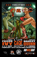 Poison Ivy vs Harley Quinn by LOPEZMICHAEL