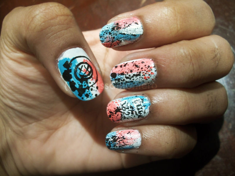 Blink 182 Nails By Shi Cake